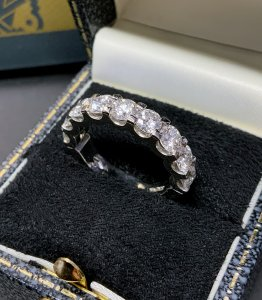 Platimum Half Eternity Ring