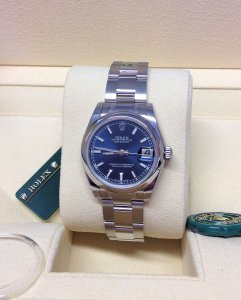 Rolex Datejust 31mm 178240 Blue Baton Unworn