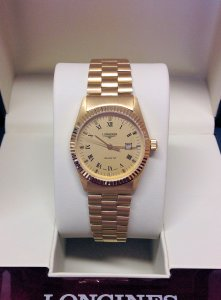 Longines Yellow Gold 30mm Ladies Wristwatch