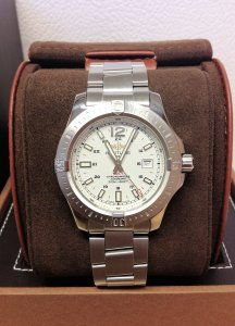 Breitling Colt Automatic A17388 Silver Dial 44mm