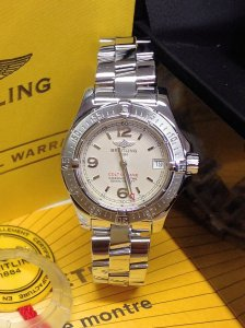 Breitling Colt Oceane A77380 Ladies Silver Dial