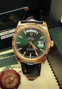 Rolex Day-Date 118138 Yellow Gold Green Dial