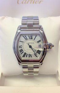 Cartier Roadster W62025V3 Silver Dial