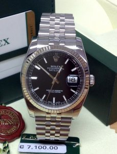 Rolex Datejust 36mm 116234 Black Baton