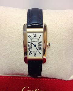 Cartier Tank Americaine W2601556 Yellow Gold