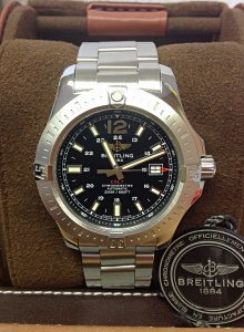 Breitling Colt Automatic A17388 Black Dial 44mm