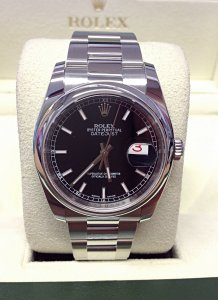 Rolex Datejust 116200 36mm Black Dial