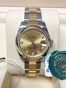 Rolex Datejust 31mm 178243 Champagne Diamond