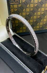 White Gold Pave Diamond Bangle