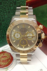 Rolex Daytona Bi/Colour 116523 Steel Baton Dial