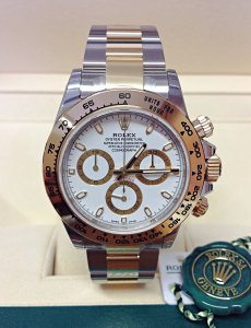 Rolex Daytona 116503 Bi/Colour White Dial Unworn