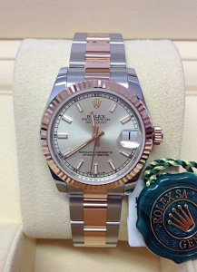 Rolex Datejust 178271 31mm Mid/Size Silver Dial