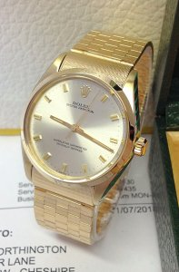 Rolex Oyster Perpetual 34mm 1002 Yellow Gold