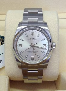 Rolex Oyster Perpetual 114200 34mm Silver Dial