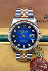 Rolex Datejust 16233 36mm Bi/Colour Diamond Dial