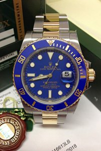 Rolex Submariner Date 116613LB Bi/Colour Blue Dial