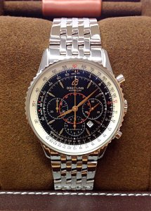 Breitling Montbrillant A41370 Black Dial 38mm