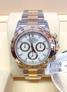 Rolex Daytona 116503 Bi/Colour White Dial