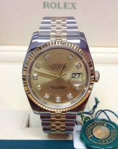 Rolex Datejust 36mm 116233 Champagne Diamond