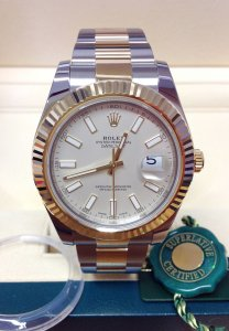 Rolex Datejust II 116333 Bi/Colour Ivory Dial