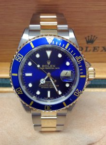 Rolex Submariner Date 16613 Bi/Colour Blue Kit