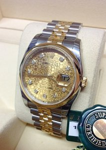 Rolex Datejust 36mm 116203 Champagne Diamond
