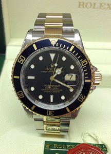 Rolex Submariner Date 16613 Bi/Colour Black Dial