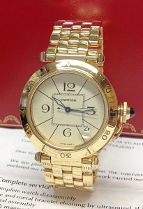 Cartier Pasha 85 0072 38.5mm Yellow Gold