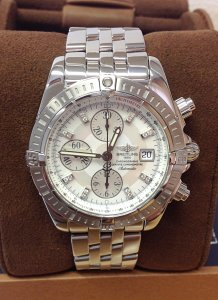 Breitling Chronomat Evolution A13356 MOP Diamond Dial