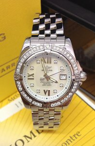 Breitling Lady Cockpit A71356 Diamond Bezel
