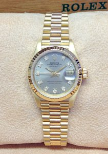 Rolex Datejust 26mm 69178 Yellow Gold diamond dial
