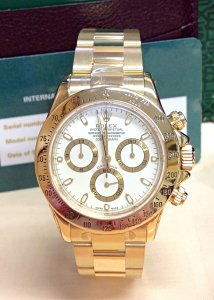 Rolex Daytona 116528 Yellow Gold White Dial