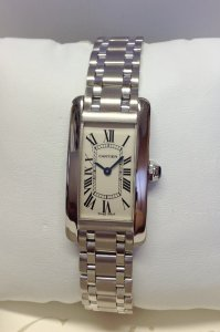 Cartier Tank Americaine W26019L1 White Gold