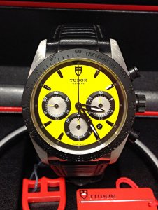 Tudor Fastrider 42010N 42mm Yellow Dial