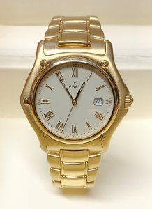 Ebel 1911 887902 Yellow Gold Silver Dial