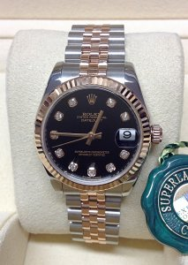 Rolex Datejust 178271 31mm Black Diamond