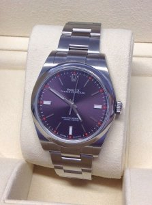 Rolex Oyster Perpetual 114300 39mm Red Grape
