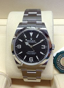 Rolex Explorer I 39mm 214270 Black Dial Unworn