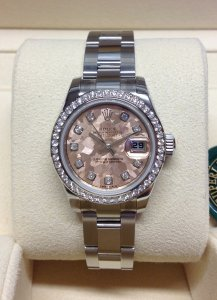 Rolex Datejust Lady 179384 26mm Diamond Bezel