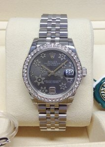 Rolex Datejust 31mm 178384 Diamond Bezel Unworn