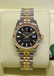 Rolex Datejust 26mm 179173 Black Baton