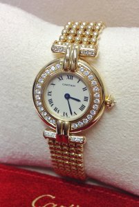 Cartier Colisee Yellow Gold Diamond Bezel