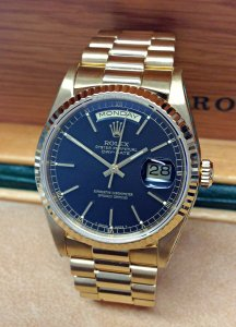 Rolex Day-Date 18238 Yellow Gold Black Dial
