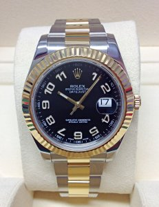 Rolex Datejust II 116333 Bi/Colour 41mm Black Dial