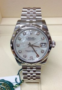 Rolex Datejust 31 178344 Diamond Bezel Unworn