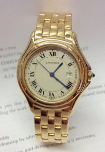 Cartier Cougar 33mm Yellow Gold Quartz