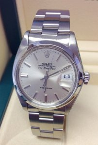 Rolex Air King Date 5700 34mm Silver Dial