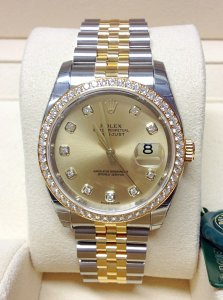 Rolex Datejust 36mm 116243 Champagne Diamond Dial