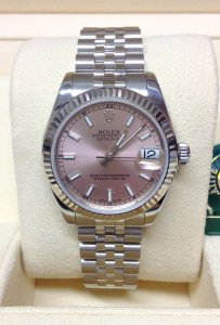 Rolex Datejust 31mm 178274 Pink Baton Dial