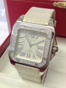Cartier Santos 100 Medium WM50460M White Gold